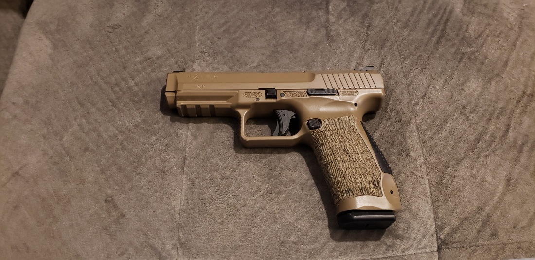 Canik TP9SF 9mm FDE Left Side
