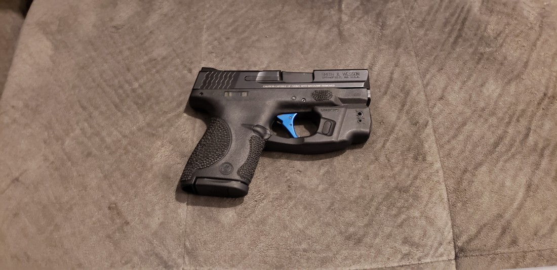 S&W Shield 9mm w.Crimson Trace Light & Laser Green -Deleted Serial